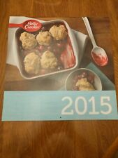 2015 BETTY CROCKER Calendar RECIPE Baking COOKING Chef BAKER used Collector OOP