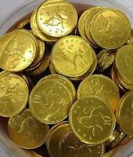 BARGAIN 100 5/10p gold milk chocolate coins 28mm  favours gifts pirate party