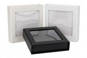 Hochzeit USB-Box mit Bildfenster. Weiß, Schwarz, Perlweiß, Gold, Silber