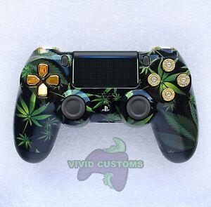Custom PS4 Controller Weed Cartel Mod PlayStation 4 Dualshock Pro V2 Gamepad