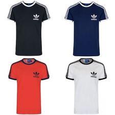Adidas Originals California Camiseta Hombres Blanco Negro Azul Marino Rojo