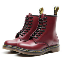 Women's Men's Dr Martens 8-Eye Classic Airwair 1460 Leather Ankle Boots Unisex
