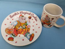 Santa's Magical Cookies Holiday Cup & Plate Cheryl Ann Johnson Design White Red