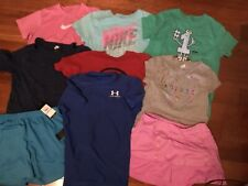 Nike&under armour/adidas athletic 9pcs girl clothes lot size:L/XL