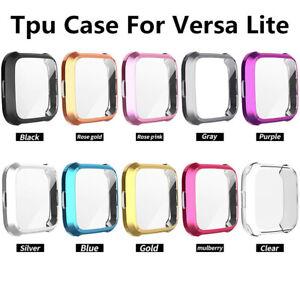 For Fitbit Versa Lite Watch Full Cover Screen Protector TPU Case Bumper