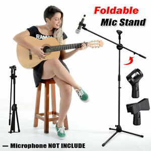 Adjustable Microphone Stand Boom Arm Live broadcast Mic Holder With 2 Free Clips