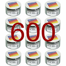 600 Pack Traxdata CD-R 80Min Full Face Blanco Imprimible Discos 52x 700MB RITEK CDR