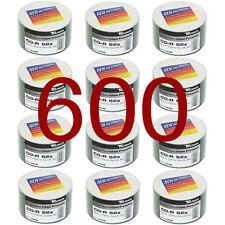 600 Pack Traxdata CD-R 80Min Full Face White Printable 52x 700MB Ritek CDR Discs