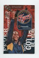 2012 INDIANA FEVER POCKET SCHEDULE (WNBA) (SKED)