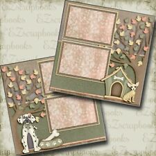 Dogs Are Awesome - 2 Premade Scrapbook Pages - EZ Layout 3864