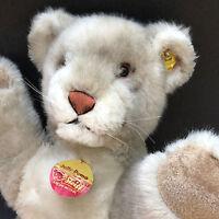 Steiff Jolly Puma Cougar Woven Fur Plush Big 50cm 20in ID Button Tags 1970s Vtg