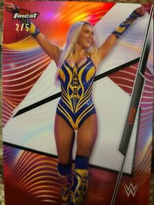 Lana #20 Red Refractor Card 2/5 WWE Finest Topps 2020 Rare Sexy Diva