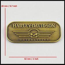 Metal Emblem / Medallion For Harley Davidson Tank / Fender Skull Brass