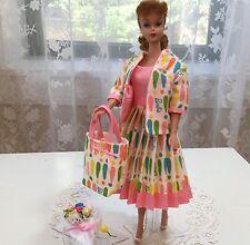 Vintage Barbie Silkstone Dress, Jacket, Bouquet, Tote Rare Vintage 1965 Fabric