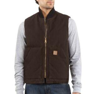 Carhartt Duck Vest Arctic Quilt Lined Streetwear Freizeit Outdoor Braun V02