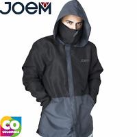 Joem Men High Neck Hooded Lightweight Windbreaker Coat ZipUp Tops Jacket Running
