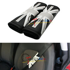Universal Black Union Jack UK Flag Car Auto Leather Seatbelt Shoulder Pad Covers