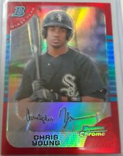 2005 Bowman Chrome Chris Young #318 Red Refractor RC Rookie Card SP 5/5 HTF