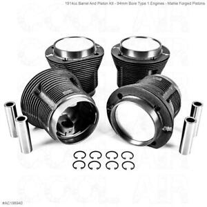 Aircooled VW 1914cc Barrel And Piston Kit - 1965-79 - Mahle Forged 94mm