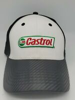 Castrol Oil Racing Hat Black/White Adjustable Embroidered Strapback Cap New