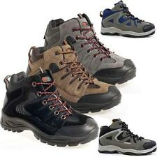 MENS HIKING BOOTS WALKING ANKLE LACE UP TRAIL BLACK TREKKING TRAINERS SHOES SIZE