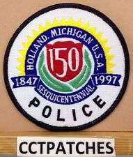 HOLLAND, MICHIGAN POLICE 150 YEARS SHOULDER PATCH MI