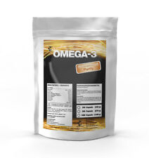 500 Kapseln Omega 3 Fischöl á 1000mg Lachsöl Fisch-ÖL  - Beste Qualität!