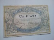 bon de circulation 1 franc 1870