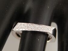18k TIFFANY & Co Frank Gehry Torque Ring Diamond Band .15 tcw D/VVS2 Ret $2400
