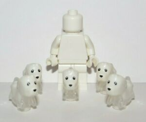 Lego 5 White Ghost Puppy Dog  Minifigure Not Inc Animal Pet Halloween