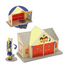 Fireman Sam Playset Fire Station & Elvis Figure - New