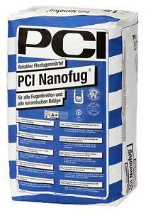 PCI Nanofug 15 KG Blanc Mortier Joints Souple Carrelage Flexfuge Bain Cuisine