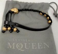 Alexander Mcqueen Skull Leather Bracelet - New