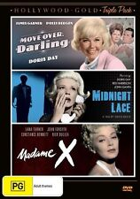 Move Over Darling / Midnight Lace / Madame X (DVD, 2012, 3-Disc Set) NEW
