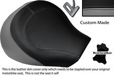 GREY & BLACK CUSTOM FITS SUZUKI INTRUDER VL 1500 98-04 FRONT SEAT COVER