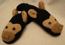 deLux tag Black ape Chimpanzee Mittens monkey chimp Adult gorilla Fleece Lined