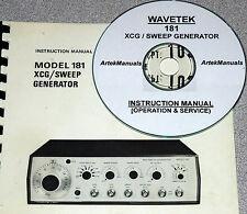 Wavetek 181 Xcg Sweep Generator Operating Amp Service Manual