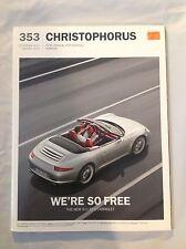 PORSCHE 911 2011- 2012  CHRISTOPHORUS 'WE'RE SO FREE' MAGAZINE #353