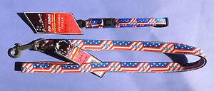 "3/8"" Adjustable Nylon Small Dog Collar 5/8"" 4' Leash Patriotic USA Stars/Stripes"