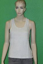 BEN SHERMAN Women's Chalk White 100% Cotton Striped Tank Top GR2061 Size M $50