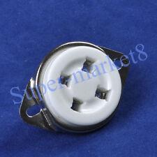 2Pcs 4Pin 2A3 300B 45 50 U4A Base Ceramic Tube Socket Gzc4-C