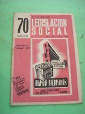 REVISTA - MAGAZINE BOLETIN DE LEGISLACION SOCIAL Nº 70