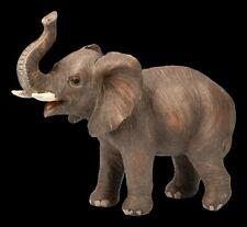 Gartenfigur - Brauner Elefant klein - Tierische Gartendeko Elefantenbaby Statue