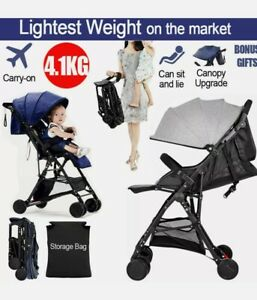 Safe Light Compact Fold Baby Stroller Pram Pushchair Carriage Carry On Sunproof