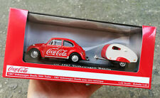COKE DIECAST 1:43 VOLKSWAGEN BEETLE WITH TRAILER DIECAST MODEL 400324