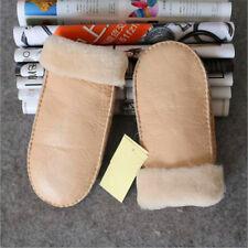 Real Sheepskin Lady Winter Women Mitten Gloves  Winter Warm Mittens Choice New