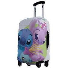 "Lilo Stitch Luggage Protector Elastic Suitcase Cover 18''- 20"" y64 w0031"
