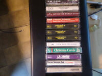 Christmas cassette tapes Lot of 12, Chistmas in America three tapes and others