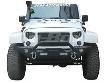 UBox Trail Front Bumper Built-in 4 LED Light for 07-17 Jeep Wrangler Unlimited