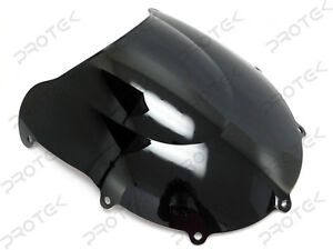 ABS Black Double Bubble Windscreen Windshield 97-00 Suzuki GSXR600 97-99 GSXR750